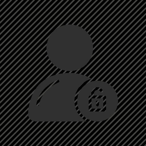 profile, security unlock, unlock profile, user icon