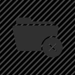 delete, file remove, folder, folder delete icon
