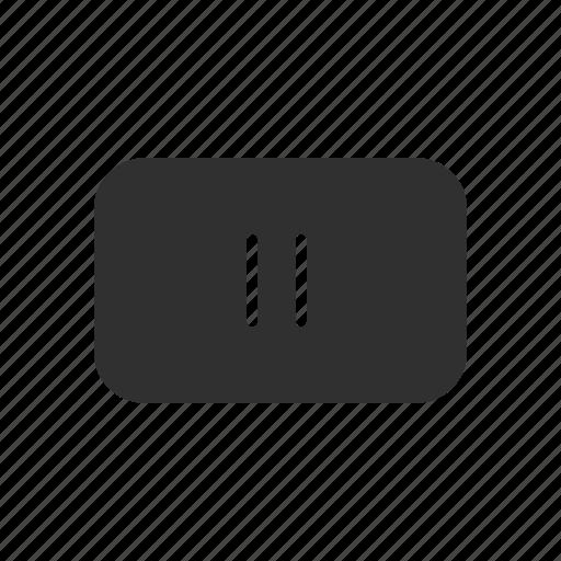 line, pause, pause button, plug icon