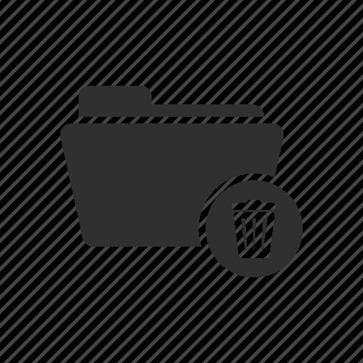 delete folder, documents, folder, remove file icon
