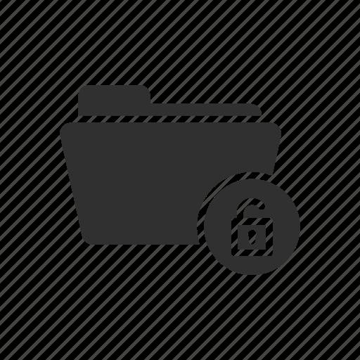 documents, folder, unlock, unlock folder icon