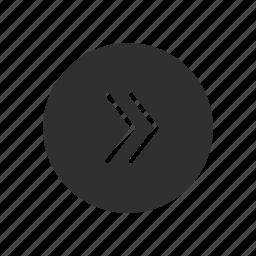 arrows, forward, next, shape icon