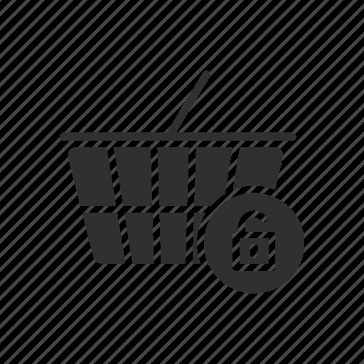 cart, grocery, shop, unlock cart icon