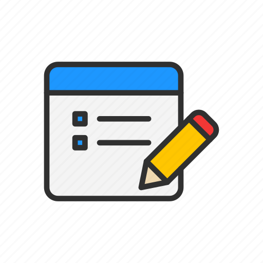 blog, create post, pencil, write icon