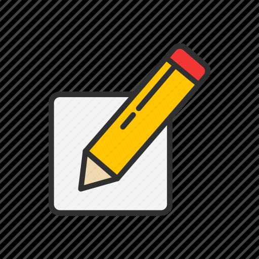 blog, create post, edit, pencil, write icon