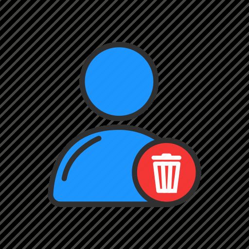 delete user, profile, remove contact, trash can icon