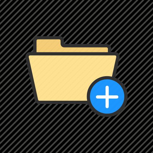 add file, add folder, documents, folder icon