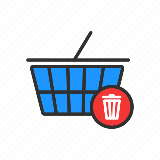 cart, delete cart, delete from cart, erase icon
