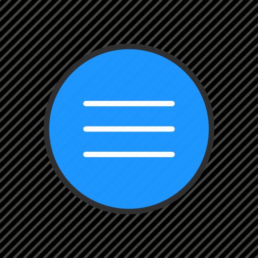 lines, menu bar, notes, text icon