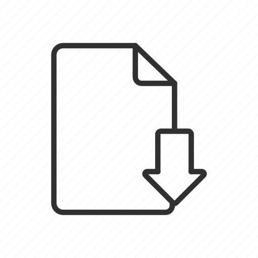 document, download, download file, file icon