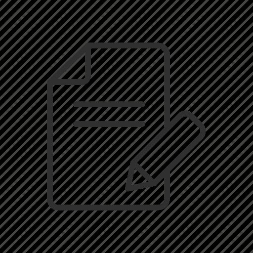 create, file, pen, write icon