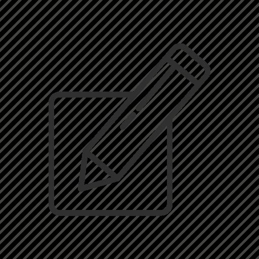 create list, edit list, list, pencil icon