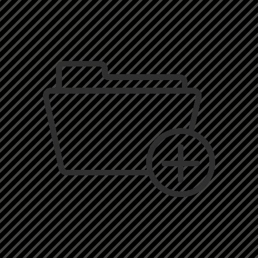 add, add folder, document, folder icon