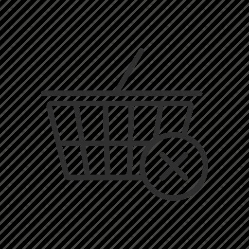 cart, delete, delete from cart, remove cart icon