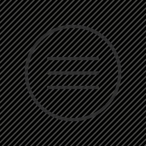 circle, lines, menu bar, shapes icon