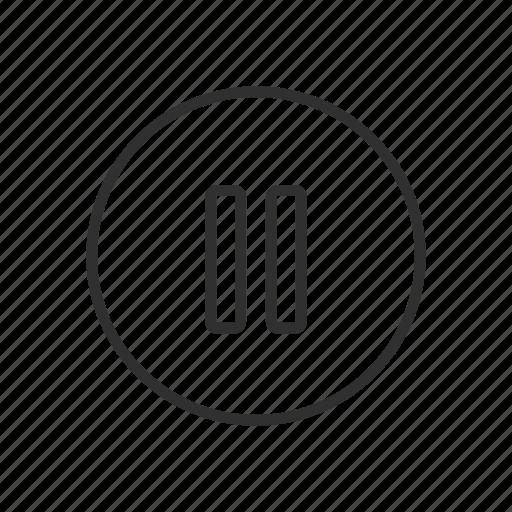 line, pause, plug, shape icon