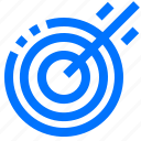 actions, archery, objective, shoot, target icon