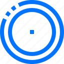 actions, circle, dot, inside, radio, two icon