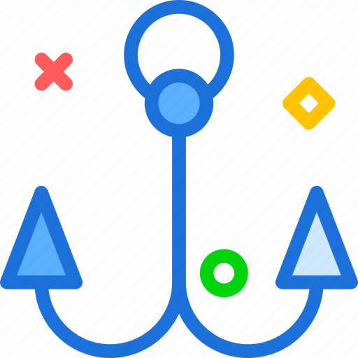boat, hook, pause, stand icon