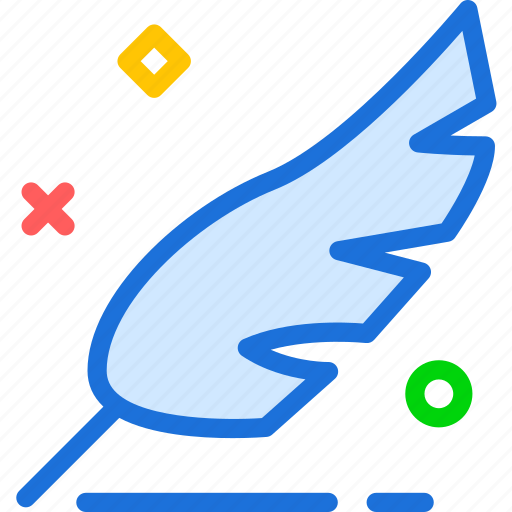 draw, feather, ink, pen, sign, write icon