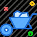 barrowheel, boat, construct, materials, sail, sea, travel icon
