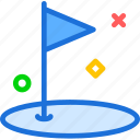 field, flag, golf, hole, mark icon
