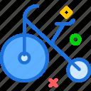 bike, circus, clown, fun, move icon