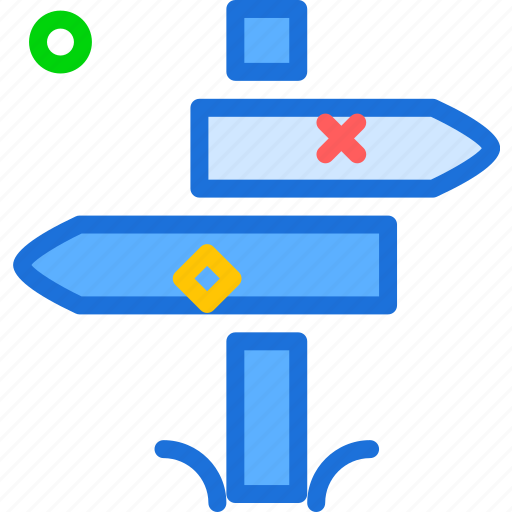 arrows, directions, gps, map, travel icon