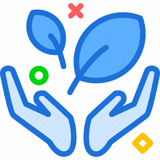 bio, green, hands, hold, protect, recycle icon