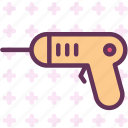 construction, drill, pistol, work icon