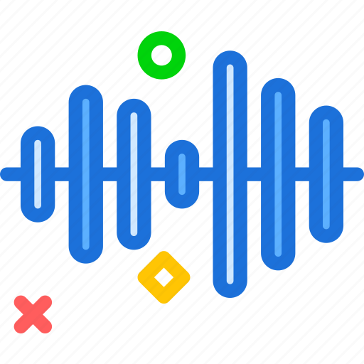 music, play, record, sound, waves icon