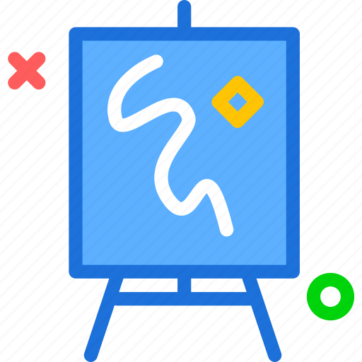 board, draw, frame, paint, whiteboard icon
