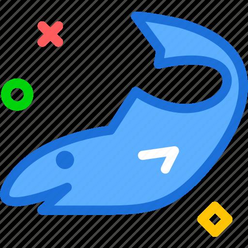 ocean, sailing, sea, shark, sport, water icon