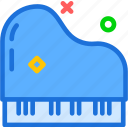 keyboard, music, piano, singer, solo icon