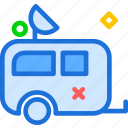 car, road, room, rulote, travel, trip icon