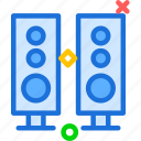 cinema, music, set, sound, speakers icon