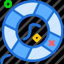 sail, saviour, sea, tool, water icon