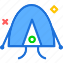 camp, round, tent, travel icon