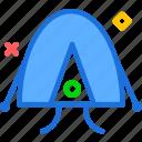 camp, round, tent, travel