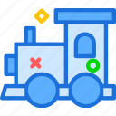 boy, machine, toy, train, wood icon