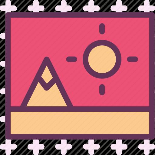 frame, landscape, photo, pic icon