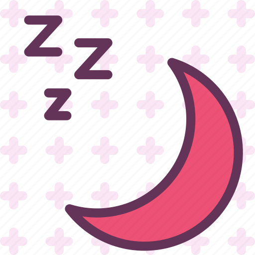 moon, night, silence, sleep icon