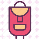 backbag, bag, mountain, travel, trip icon