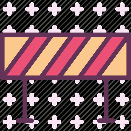 area, bariere, block, closed, road icon
