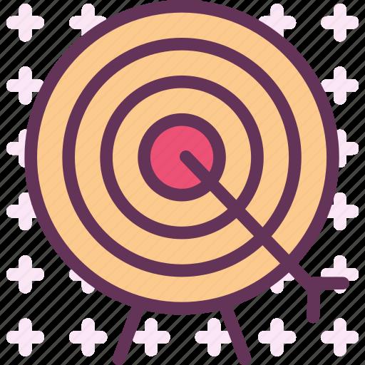 accuracy, aim, darts, target icon