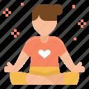 clam, meditation, peaceful, relax, yoga icon