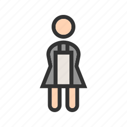 cleaner, cleaning, hotel, house, maid, room, service icon