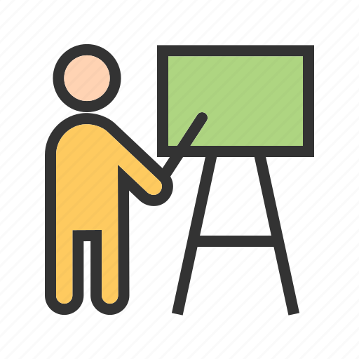 Classroom, presentation, professor, students, teacher, teaching icon - Download on Iconfinder