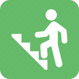 climb, climbing, stairs, step, success, walking icon