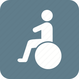 disability, disabled, healthcare, people, sitting, wheelchair icon